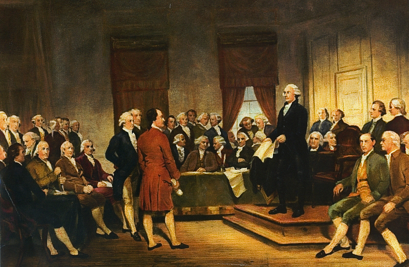 Washington at The Constitutional Convention in 1787 by Junius Brutus Stearns