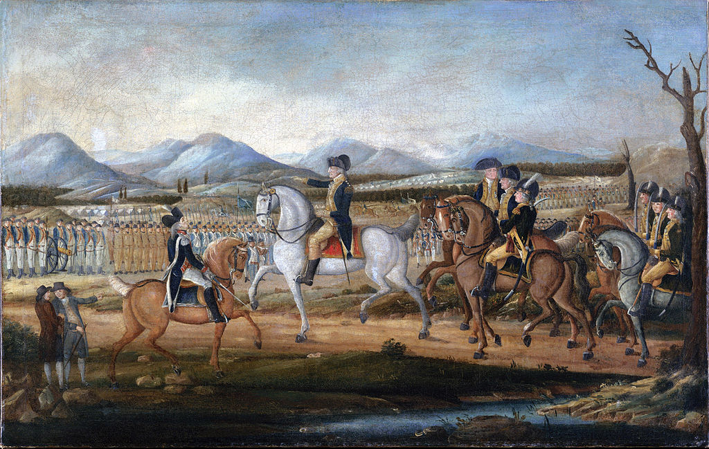 Washington Reviews Troops at Fort Cumberland Attributed to Frederick Kemmelmeyer