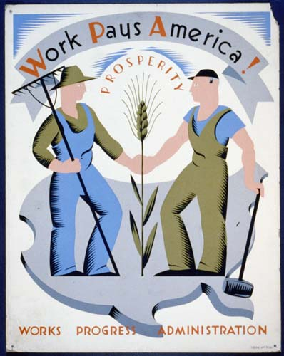 Work Progress Administration Poster
