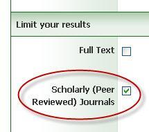 Scholarly Check Box