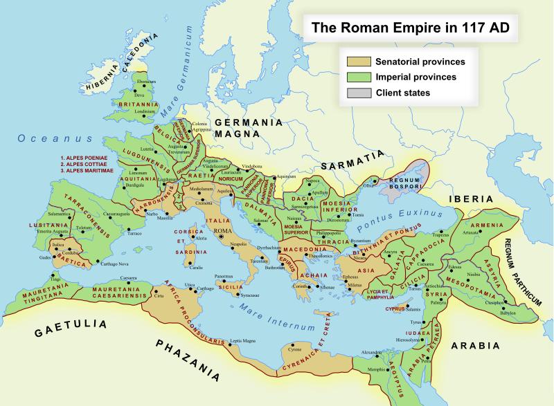 The Roman Empire in 117 AD