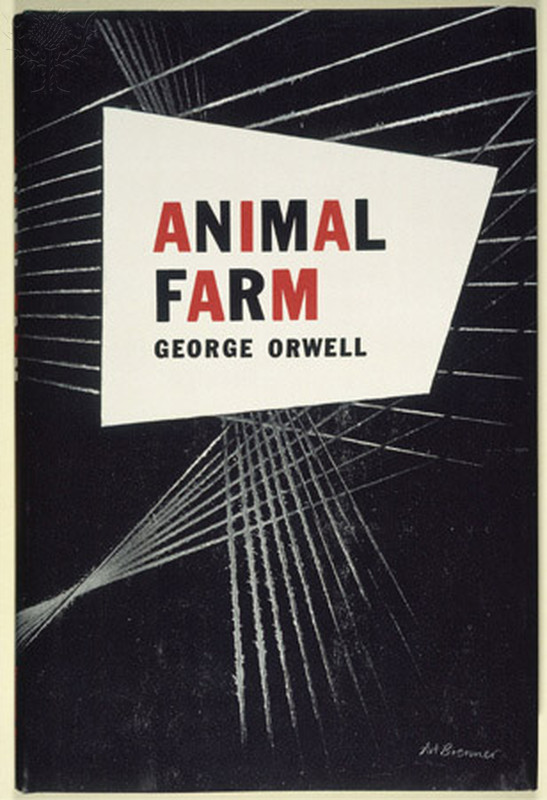 "ORWELL: ANIMAL FARM, 1946. - Front Jacket Cover For The First U.S. Edition Of George Orwell's Novel ""Animal Farm."". [Fine Art]. Retrieved from Encyclopædia Britannica Image Quest."