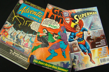 group of superhero comics