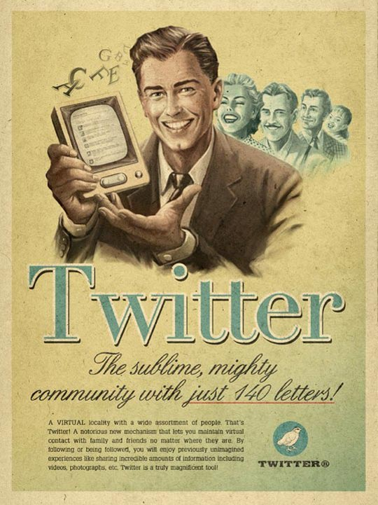Moma propaganda : affiche twitter vintage
