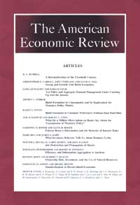 Cover of American Economic Review
