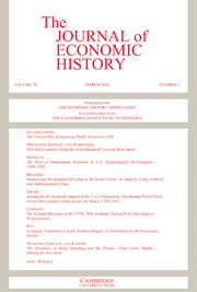 Cover of Economic History Review