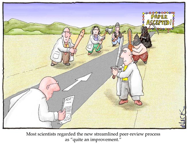 peer review cartoon