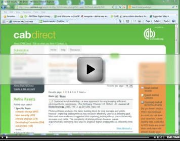 Video shows how to use the MyCABDirect feature.