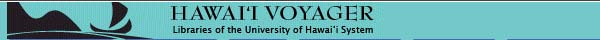Hawaii Voyager Library Catalog banner