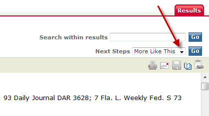 Use the Shepardize® option in LexisNexis Academic to see if a court ruling is still good legal precedent.  Start by finding a case and viewing the full document.  Then follow these steps:    (1) Click on the Next Steps pull-down menu in the upper-right side of the screen