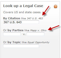 LexisNexis Academic Look up a legal Case by Citation & by Parties