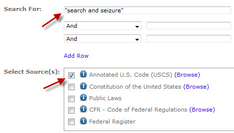 Type your subject in the search box and choose an option under Select Source(s).