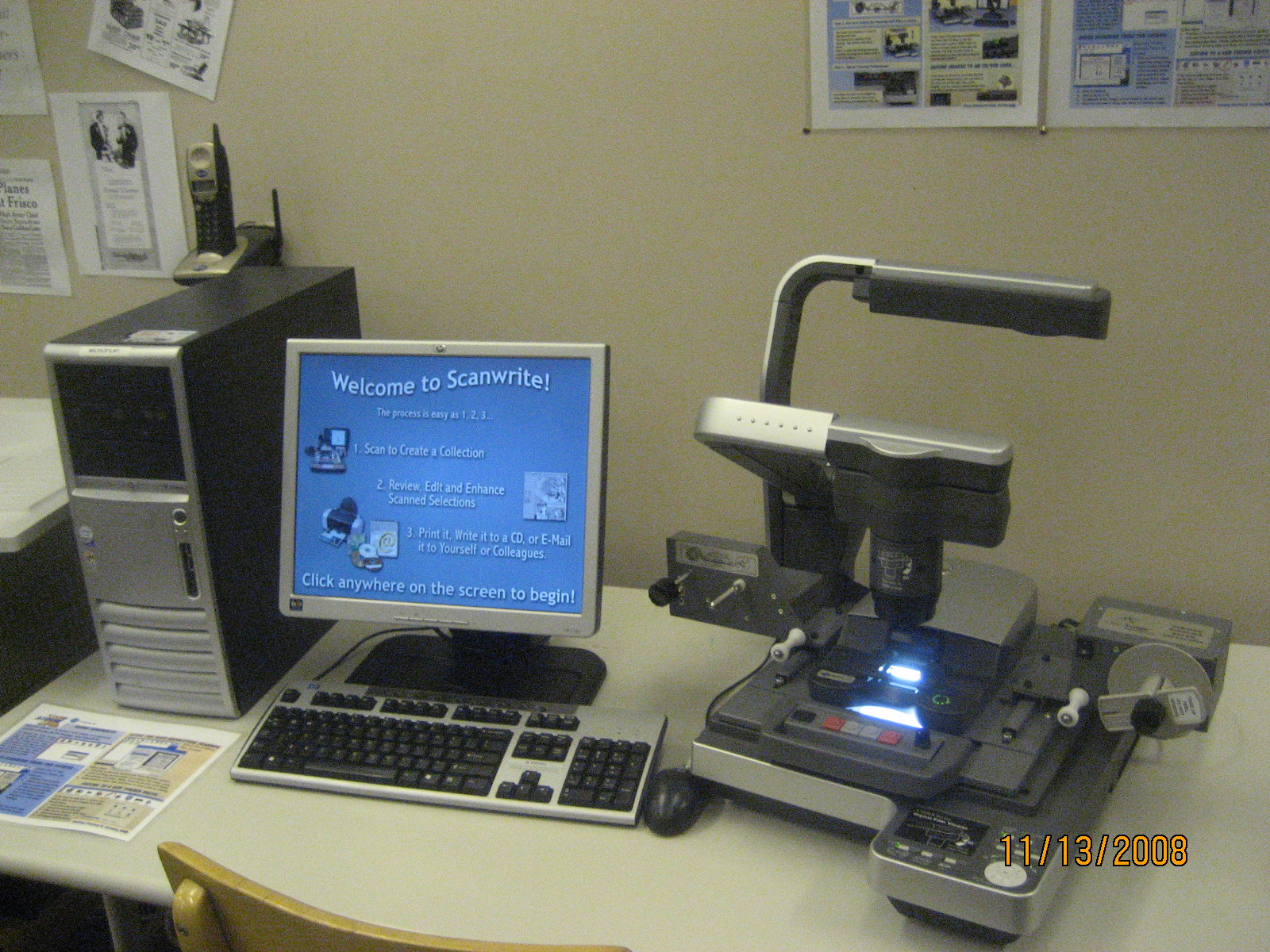 Microfilm Reader