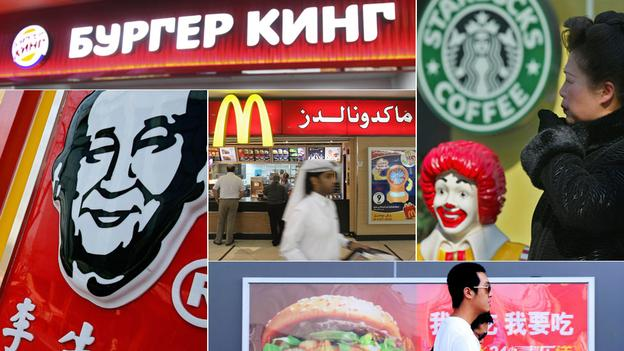 McDonald's signs in Chinese, and Hindu