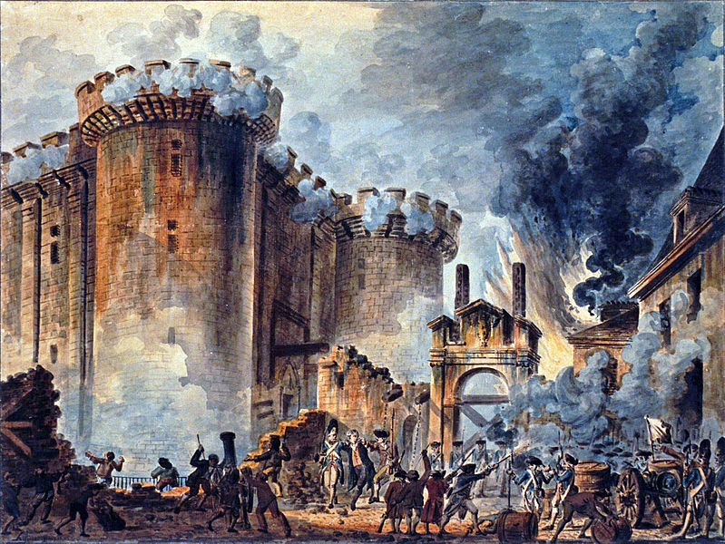 """The Storming of the Bastille"", Jean-Pierre Houel, 1789, Wiki Commons"