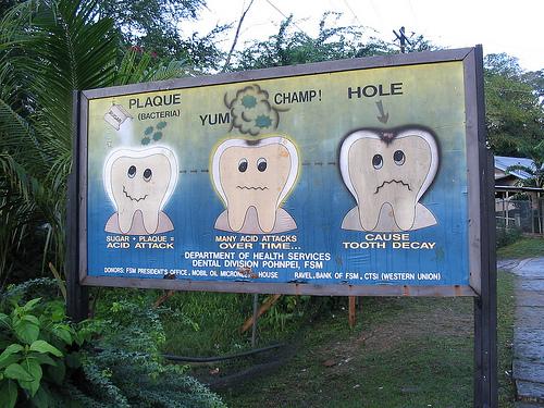 Dental health billboard, Pohnpei