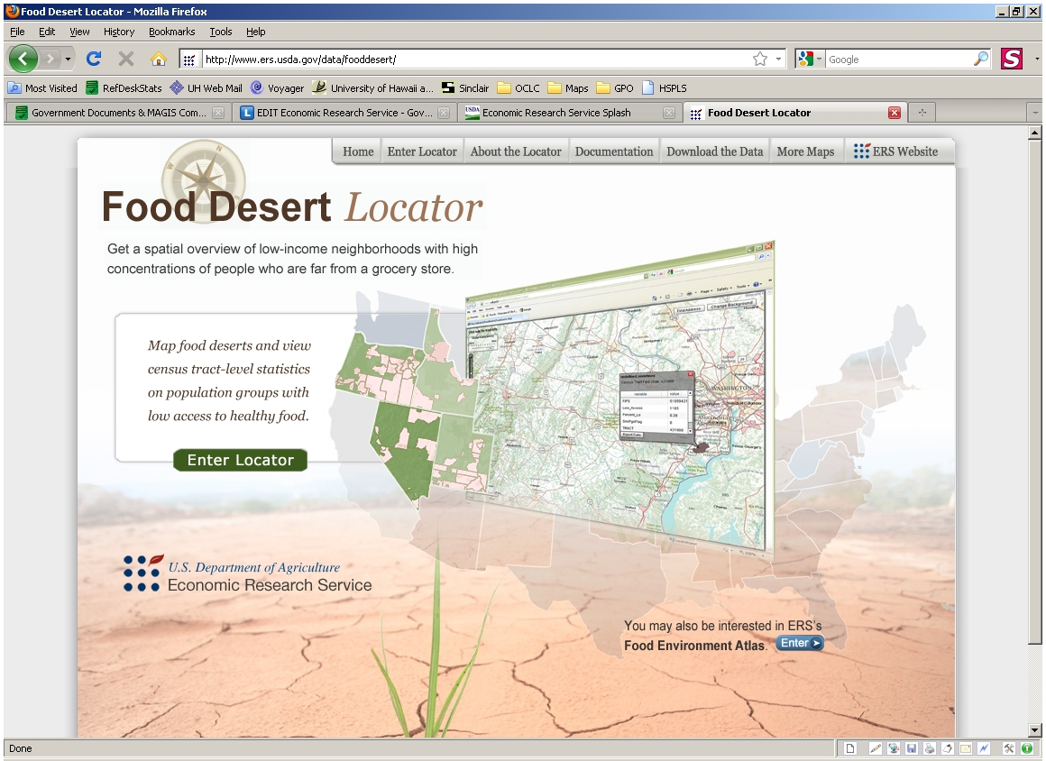 Food Desert Locator screen shot