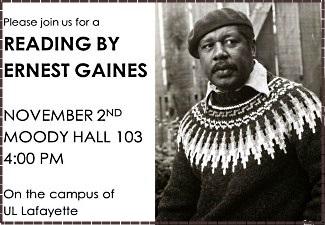 Gaines reading on Sunday, Nov. 2