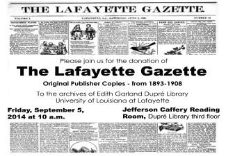 Lafayette Gazette newspaper