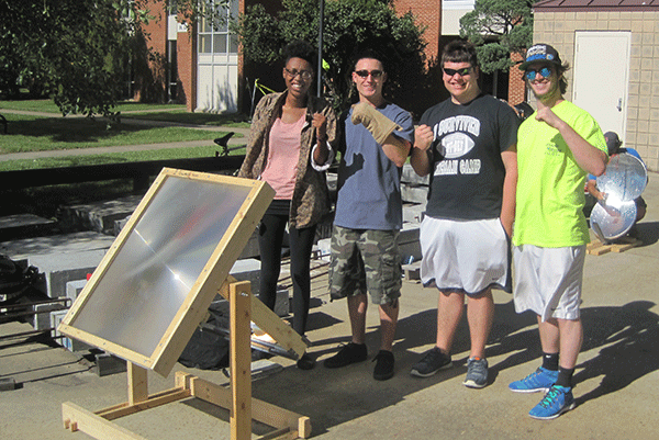 Group of Student with a Solar Panel