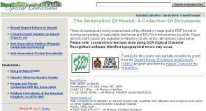 Annexation web site screen shot