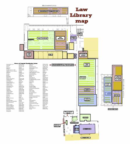 Law Library map