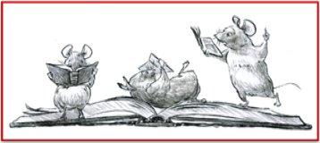 3 rats reading