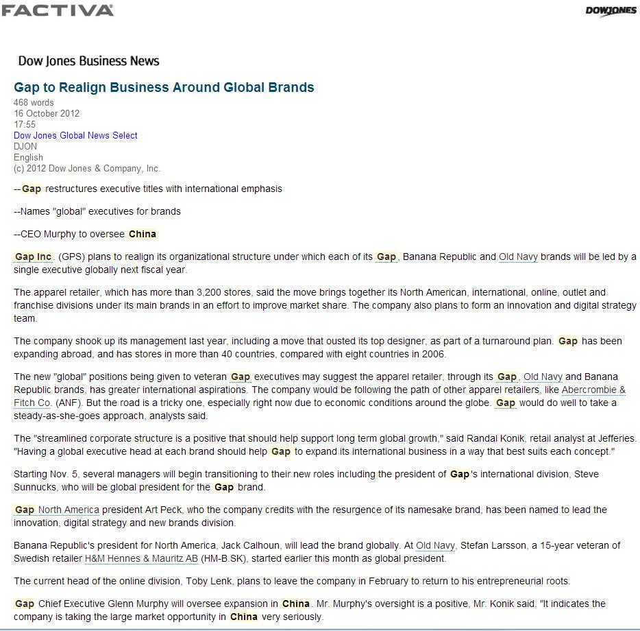 Factiva Gap Story