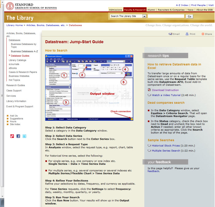 Stanford Datastream Guide