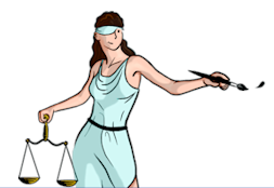Nathaniel Burney's lady justice from The Illustrated Guide to Law