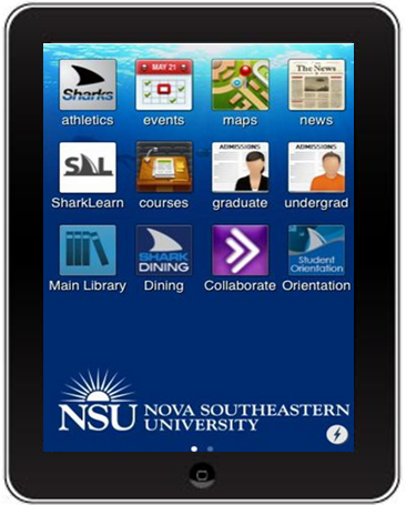 ipad with NSU's iShark app displayed