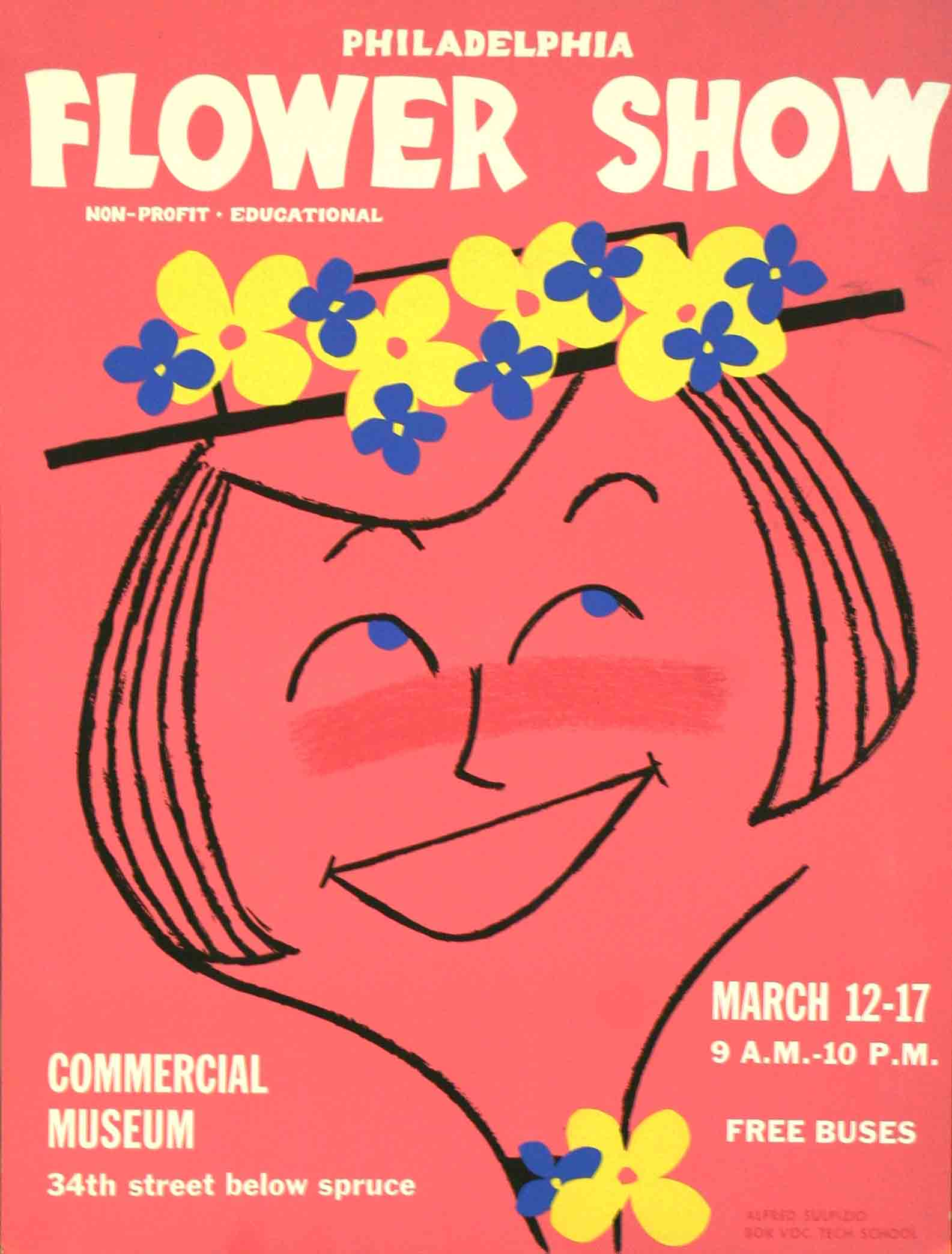 1956 Flower Show Poster