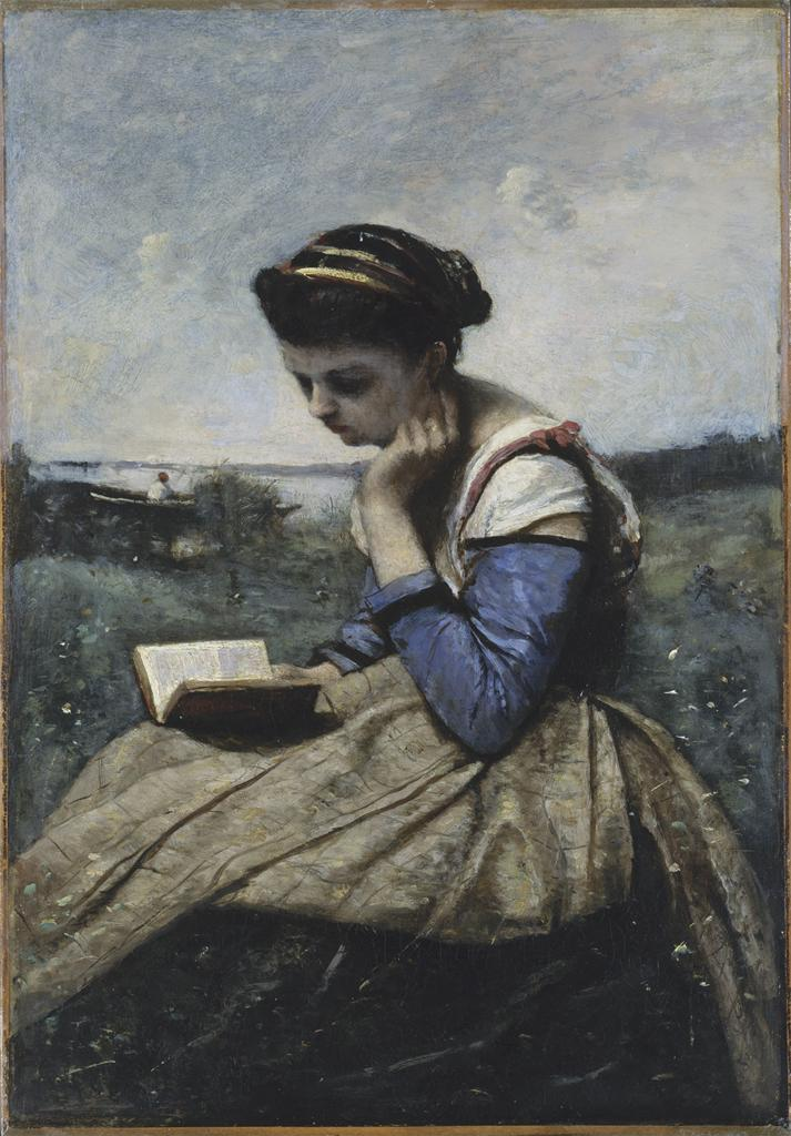 Corot, A Woman Reading, 1869