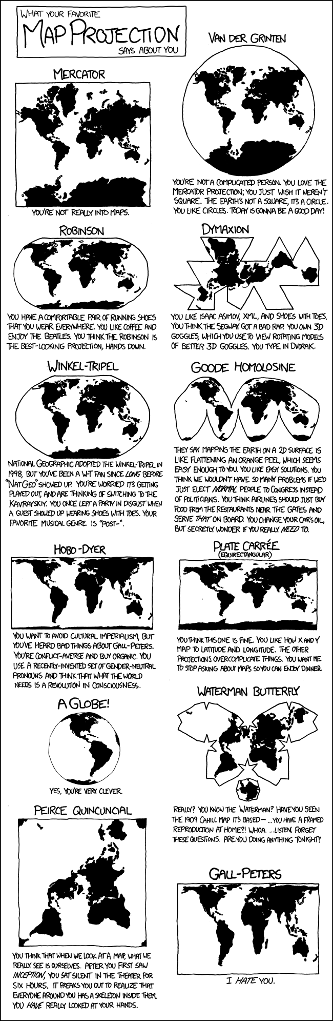 From xkcd: a comic about map projections