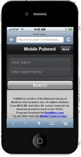 iPhone with PubMed Mobile