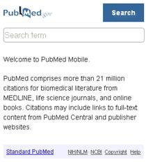 PubMed Mobile Website