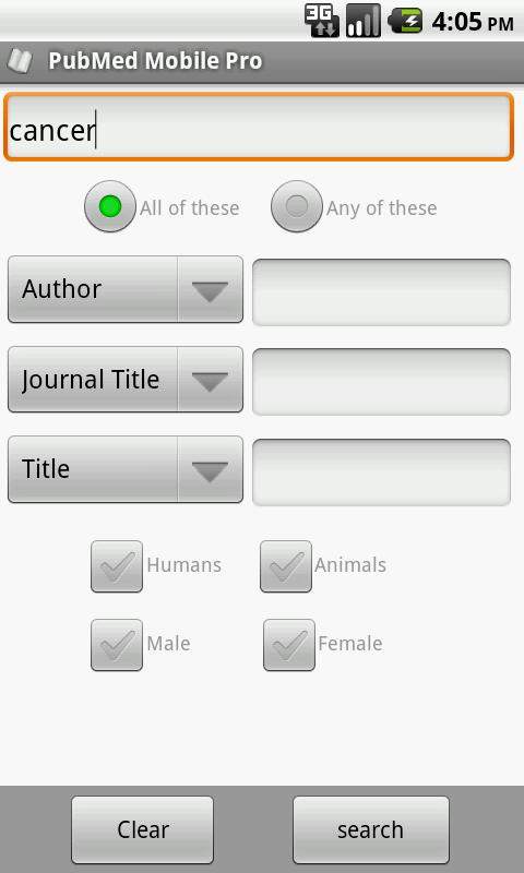 PubMed Android