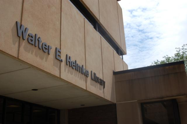 Helmke Library Entrance