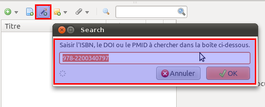 Zotero - ISBN