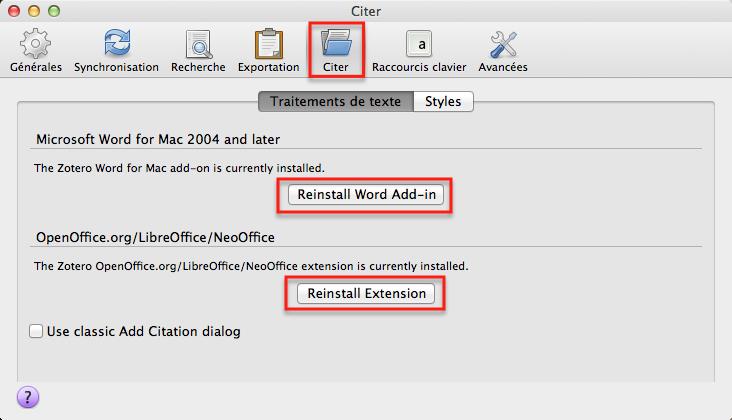 Extensions pour le traitement de texte