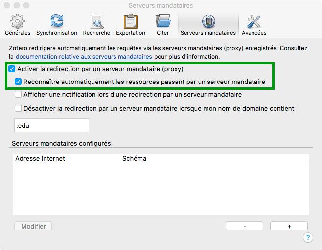 Paramétrer le proxy de la BU pour accéder aux ressources électroniques