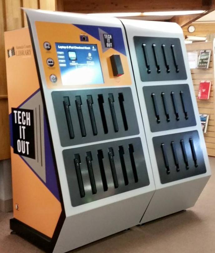 Tech It Out vending machine