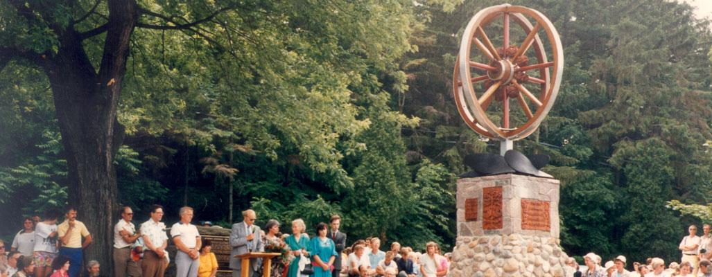 Mennonite bicentennial memorial dedication
