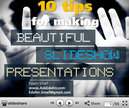 10 Tips for making beautiful presentations