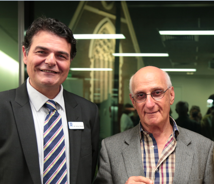 Headmaster, Anthony Micallef and David Malouf