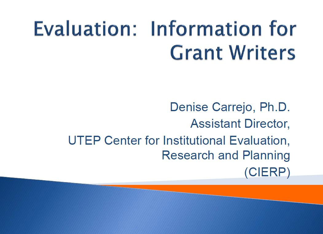 Image of Evaluation Presentation