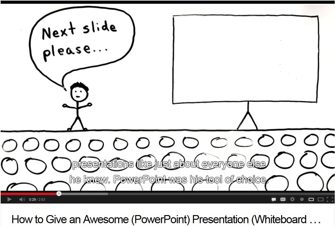 Image of how to give an awsome powerpoint presentation video