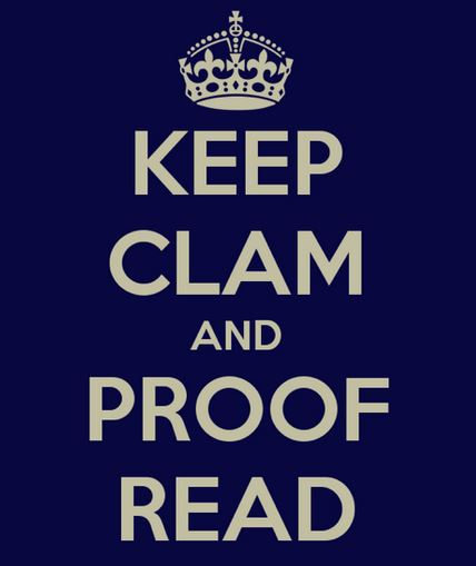 keep calm and proofread image