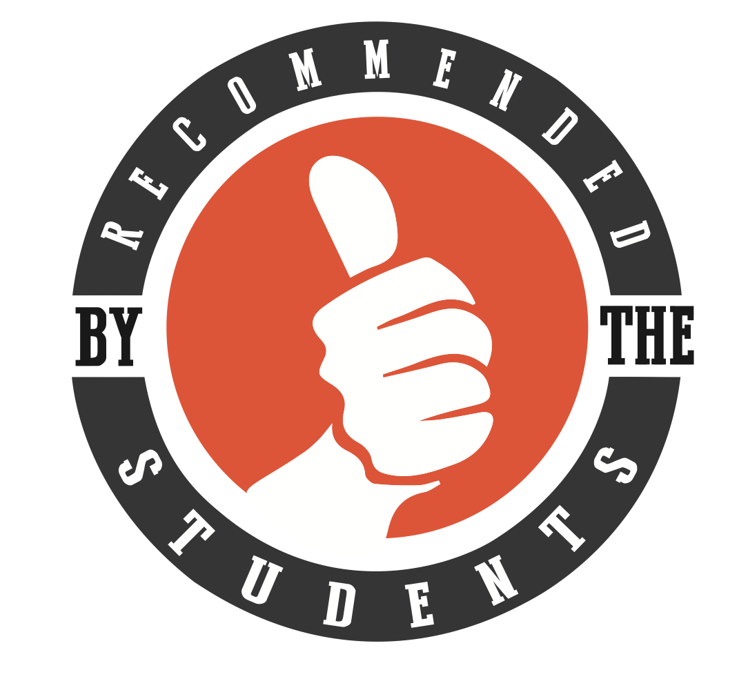 recommended by the student thumbs up image
