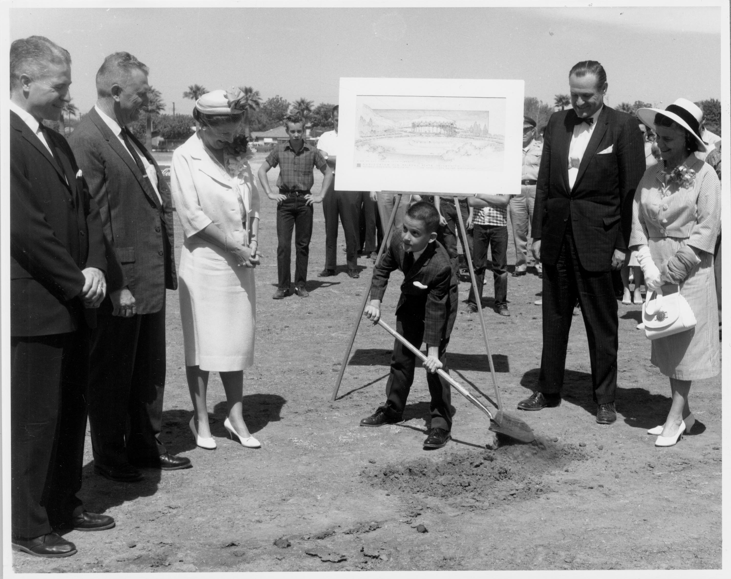 Groundbreaking for Gammage Auditorium, 1960